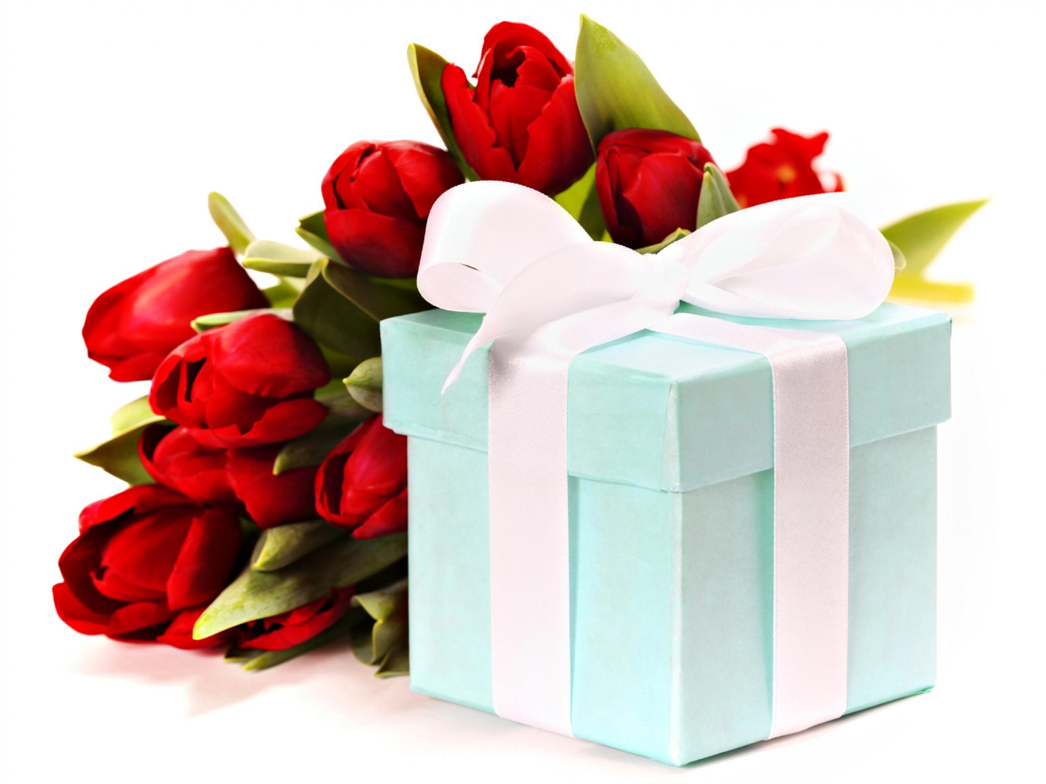 Открытки с подарками с днем рождения, картинка